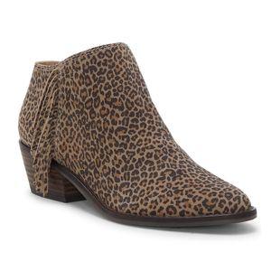 Lucky Felisie leopard ankle boot waterproof fringe